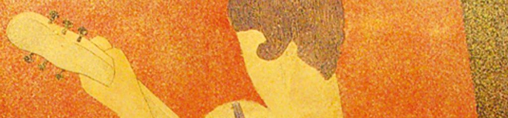 Jean Dunand , La joueuse de musique, 53 x 77 cm.