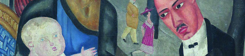 MARIE VASSILIEFF (1884-1957), Le café de la Rotonde (autoportrait)